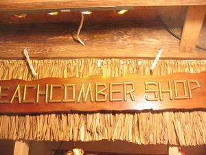 Beachcomber Shop sign from Kahiki Supper Club in Columbus