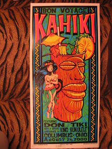 "Poster from ""Bon Voyage Kahiki,"" the final night of Kahiki Supper Club in Columbus"