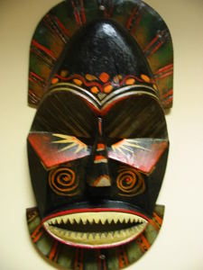 Mask from Kahiki Supper Club in Columbus, now at Kahiki Frozen Foods