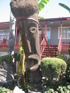 Tiki at the Tropics Motel in Modesto