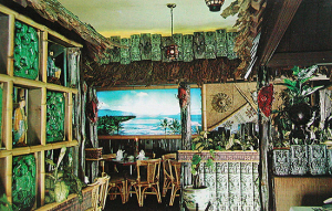 Postcard showing the Aloha Lounge at Bob Lee's Islander