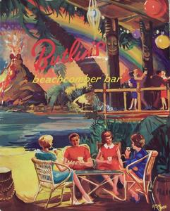 Menu cover from Butlin's Beachcomber Bar in Ayr