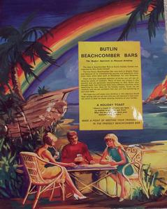 Back cover of menu from Butlin's Beachcomber Bar in Ayr