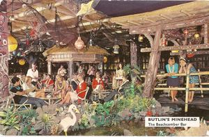 Postcard from Butlin's Beachcomber Bar in Minehead