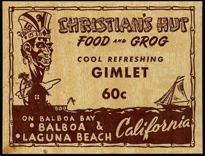 Advertisement from Christian's Hut in Newport Beach