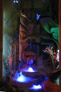 Huge Witco fountain at Aku-Tiki Room in Kewanee