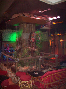 Interior of Hula Hula in Lloret de Mar