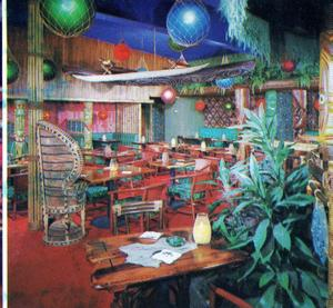 Tiki temple at Trade Winds in Oxnard, as designed by Ione Keenan