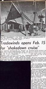 Newspaper clipping about Trade Winds in Oxnard