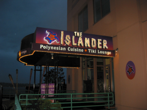 Entrance to the Islander in Seattle