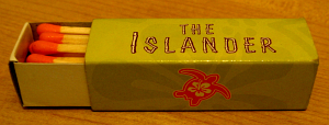 Box of matches from the Islander in Seattle