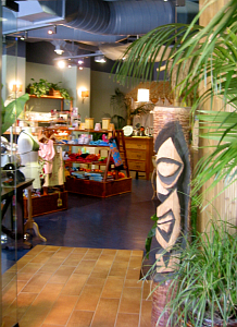 The entrance to Spa Tiki