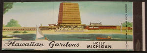 Matchbook cover from Hawaiian Gardens Resort in Holly