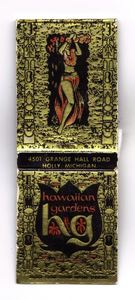 Matchbook from Hawaiian Gardens Resort in Holly