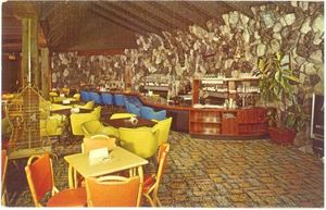 Postcard of the Waitoma Grotto at Hawaiian Gardens Resort in Holly