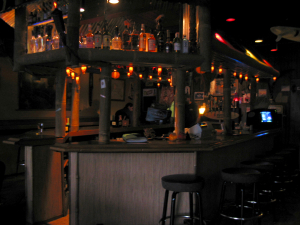 The bar at Tiki Joe's Wet Bar