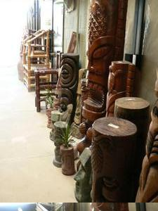 Tikis for sale at House of Tiki in Costa Mesa