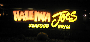 Sign for Haleiwa Joe's