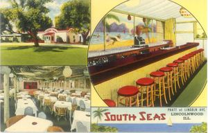 Early postcard from South Seas in Lincolnwood