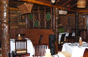 Dining room at Trader Vic's in Dallas
