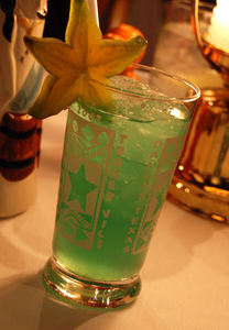 The signature drink, The Dallas Star, at Trader Vic's in Dallas