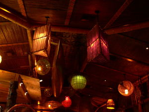 Lighting in the bar at Trader Vic's in Dallas