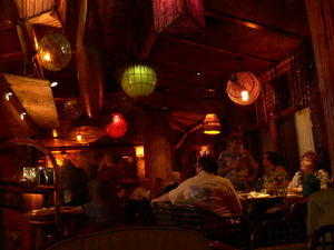 The bar at Trader Vic's in Dallas