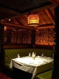 A booth at Trader Vic's in Dallas
