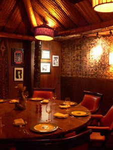 Private room at Trader Vic's in Dallas