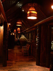 Hallway to the dining rooms at Trader Vic's in Dallas
