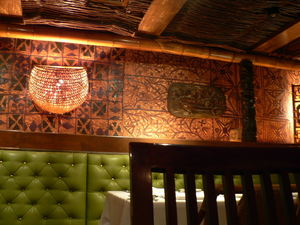 Tapa cloth at Trader Vic's in Dallas