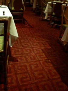 Reproduction of the original carpet at Trader Vic's in Dallas