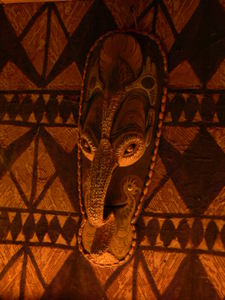 Papua New Guinea mask at Trader Vic's in Dallas