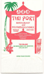 Napkin from Tiki Port in Hyannis