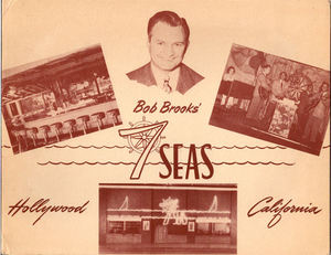 Souvenir photo folder from Bob Brooks Seven Seas in Los Angeles