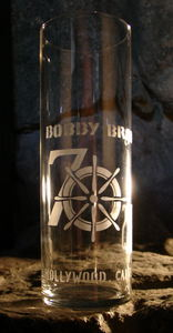 Souvenir glass from Bob Brooks Seven Seas in Los Angeles