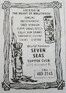 Phone book ad for Bob Brooks Seven Seas in Los Angeles