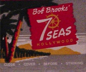 Matchbook from Bob Brooks Seven Seas