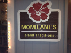 Sign for Momilani's in Dana Point