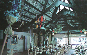 Postcard from Trader Frank's restaurant at Tiki Gardens