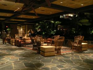 Seating in lobby at Disney's Polynesian Resort in Orlando
