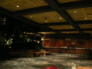 Reception desk at Disney's Polynesian Resort in Orlando