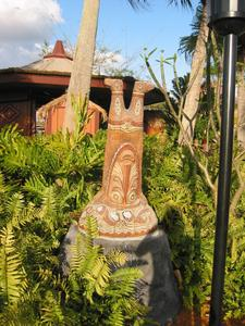 Ngendi tiki on the grounds at Disney's Polynesian Resort in Orlando