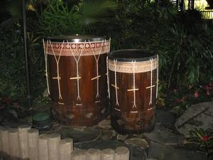 Drums at the entrance at Disney's Polynesian Resort in Orlando
