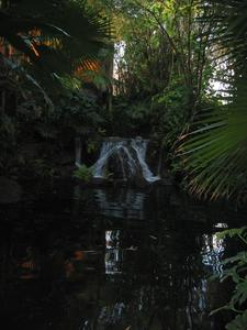 Water feature at the entrance to Disney's Polynesian Resort in Orlando