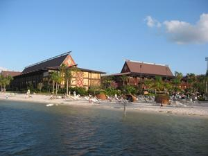 Hotel buildings at Disney's Polynesian Resort in Orlando