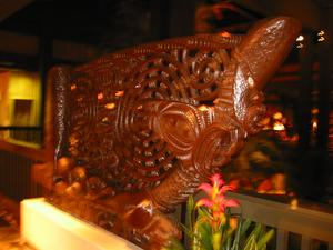 Carving near 'Ohana restaurant at Disney's Polynesian Resort in Orlando