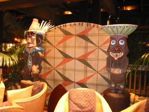 Pele and Rongo tikis at Disney's Polynesian Resort in Orlando