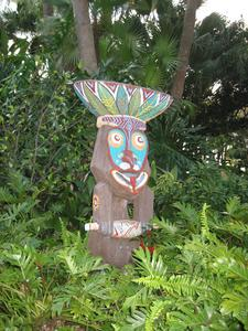 Rongo tiki on the grounds at Disney's Polynesian Resort in Orlando