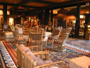 Seating area at Disney's Polynesian Resort in Orlando